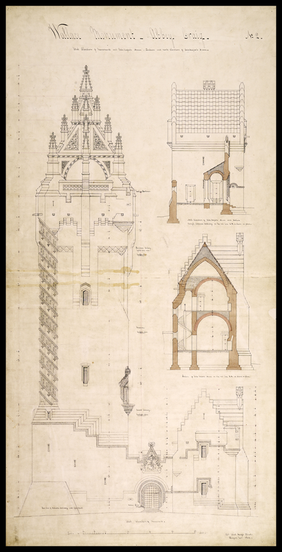 Wallace Monument plans by Rochead